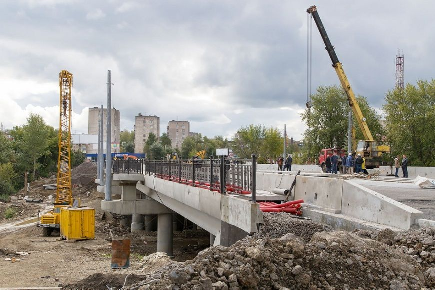 Reconstruction of the bridge over the Tagil river in Frunze Street
