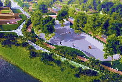 "Creating favourable conditions for development of recreation area ""Promenade ""Tagil Lagoon"", II stage"